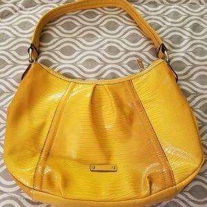 Gold shoulder bag